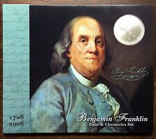 BENJAMIN FRANKLIN COINAGE & CHRONICLES SET 2006 U.S. MINT ISSUED