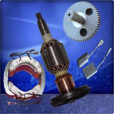Anker + Stator / Polschuh + Zahnrad + Kohlebürsten passend für Bosch GSH 11 E