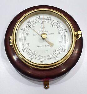 Barometer Barigo aneroid brass precision marine antique wooden frame