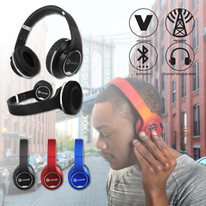 Wireless Bluetooth Headphones Foldable Stereo Super Bass Speaker Mic FM Radio SD