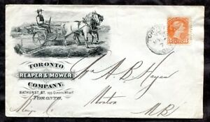 p504 - TORONTO 1879 Reaper & Mower Co ILLUSTRATED Advertising Cover. Farming