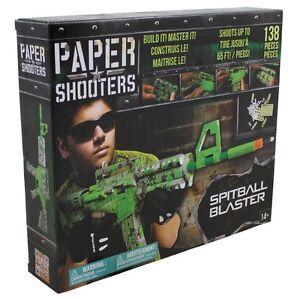 MFH PAPER SHOOTERS Bausatz Tactician Green Spit Spielzeug-Gewehr Papierkugeln