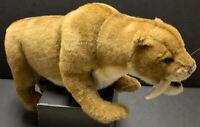 "Hansa SABER TOOTH TIGER 20"" Plush Hand Crafted Creation Stuffed Animal HTF"