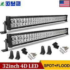 2X 32inch LED Light Bars Combo 840W Offroad For Jeep Truck 4x4WD ATV SUV 30/34''