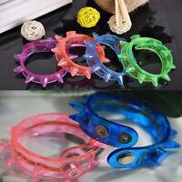 5X Flashing LED Rivet Party Bracelets Wristband Dance Disco Bangle Light Up Rave