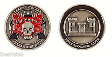 """ARMY FORT LEONARD WOOD ENGINEER CLEAR THE WAY SAPPER SKULL 1.75"""" CHALLENGE COIN"""