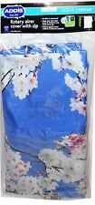 ADDIS ROTARY DRYER PARASOL WASHING LINE COVER BLUE & BLOSSOM DESIGN