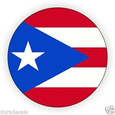 Puerto Rico Hard Hat Decal   Helmet Sticker   Label   Puerto Rican Flag Emblem