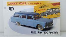 Dinky Toys Atlas - Fascicule SEUL de la Fiat 1800 Familiale (Booklet only)