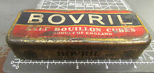 vintage Bovril Beef Bouillon cubes tin, great colors & graphics, London England