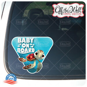 """Baby Squirt """"BABY ON BOARD"""" Sign Vinyl Decal Sticker for Cars/Trucks"""