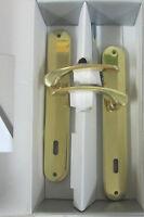 Maniglia doppia x porta placca foro chiave 90 realizzato in ottone lucido 245