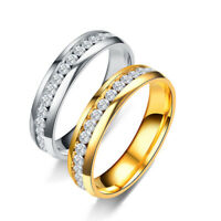 Men Women Silver Gold Stainless Steel Ring Band Titanium Wedding Rings