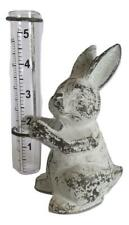 Cast Iron Bunny Rabbit Rain Gauge Rabbits Lawn & Garden Rain Gauges Gift