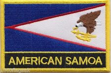 United States USA American Samoa Flag Embroidered Patch Badge - Sew or Iron on