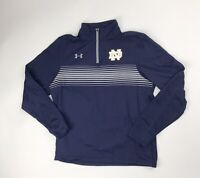 New Under Armour Notre Dame Fighting Irish 1/4 Zip Pullover Men's M Navy 1273920