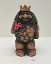 Vintage Troll Figurine Queen Troll/ Wedding Bride Norwegian Folklore Figure Rare