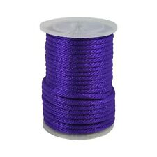 "ANCHOR ROPE DOCK LINE 3/8"" X 100' BRAIDED 100% NYLON PURPLE MADE IN USA"