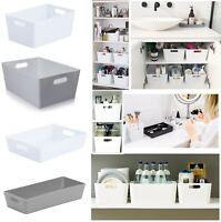 Plastic Studio Storage Basket Set For Office Home Kitchen Tidy Organiser Baskets
