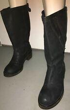 Haider Ackermann Black Leather Combat Biker Moto Rock Punk Boots Size US 7.5/8M