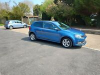 2017 vw polo 1..2 match blue motion new mot only21000 miles