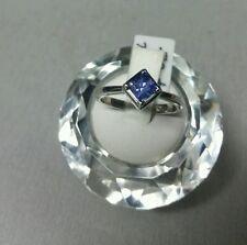 18k white gold solitaire square Tanzanite ring 0.72ct