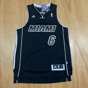 100% Authentic Lebron James Adidas Heat Blackout Swingman Jersey Size S - M 40