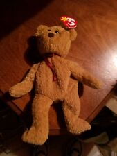 EXTREMELY RARE Ty Beanie Baby 'Curly' Retired Bear with MANY Errors-MINT-GEM!!!