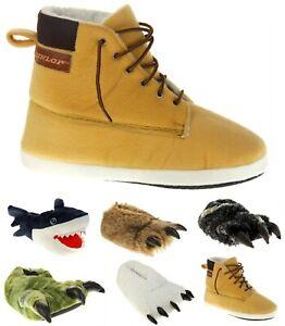 Mens DUNLOP Novelty Claw, Shark, Work Boot Slippers Sizes UK 6-7 8-9 10-11 12-13