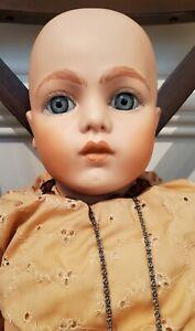 "Vintage Bru Jne 13 Reproduction Doll Signed By Artist Joyce Watkins Large 27.5"""