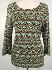 Beautiful Women's Medium Coldwater Creek Multi-Color Lace Double Knit Blouse GUC