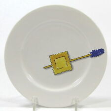 "Crate & Barrel TIDBITS RAVIOLI 6.5"" Appetizer Plate Nancy Green Japan Porcelain"