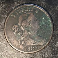 1803 Large Cent - High Quality Scans #F604