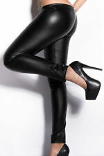 Woment's faux leather leggings high waist slim stretch skinny tight pants