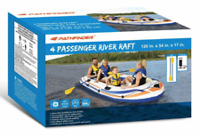 Pathfinder 4 Person Inflatable Raft/Boat With Pump & Oars