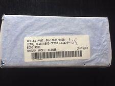 """Whelen Edge 9000 6.5"""" Lightbar Lenses - Blue Warning Lens - # 68-118147552B G"""
