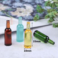 6Pcs 1:12 Dollhouse Miniature Beer Wine Drink Bottle Doll Kitchen Accessories.UK