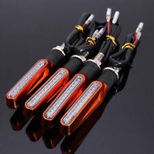 4pcs Orange Motorcycle LED Turn Signal Indicator Blinkers Amber Light