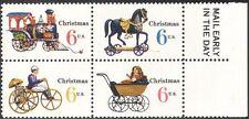 USA 1970 Natale/Giocattoli/Cavallo/TRENO/LOCOMOTIVA A VAPORE// Carrozzina/MOTO 4 V nero (n43308)