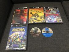GameCube Games Bundle (Pokémon Colosseum, Shrek 2, Spider-Man 2, Street V3)