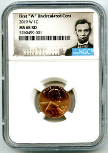 2019 W LINCOLN PENNY NGC MS68 RD UNCIRCULATED SHIELD CENT CERT # 001