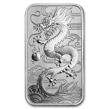 2018 Perth Mint Australian 1 oz.9999 Silver Dragon coin bar