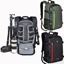 DSLR SLR Professional Waterproof Camera Backpack Padded Lens Bag With Raincover