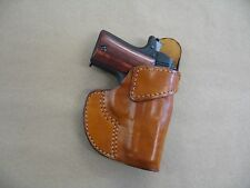 Rock Island Baby Rock 380 Leather 1 Slot OWB Belt Conceal Holster CCW - TAN RH