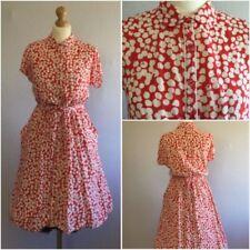 Retro Shirt Dresses for Women with Pockets