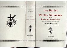 CAMILLE LE MERCIER D'ERM LES BARDES ET POETES NATIONAUX DE LA BRETAGNE XIX-XXe s