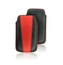 Funda Funda Estuche Flexible Samsung i9000 Galaxy S Rojo y Negro