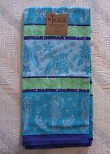 Starfish Turtles Jacquard Tea Towel Sea Life Pattern Kay Dee Cotton