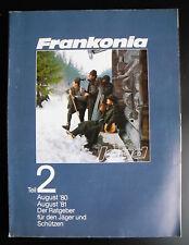 Frankonia Jagd Teil 2 - 1980/1981 Ratgeber für den Jäger und Schützen - Katalog