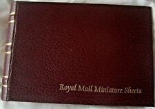 BURGUNDY ROYAL MAIL MINIATURE SHEETS ALBUM WITH TWELVE  LEAVES